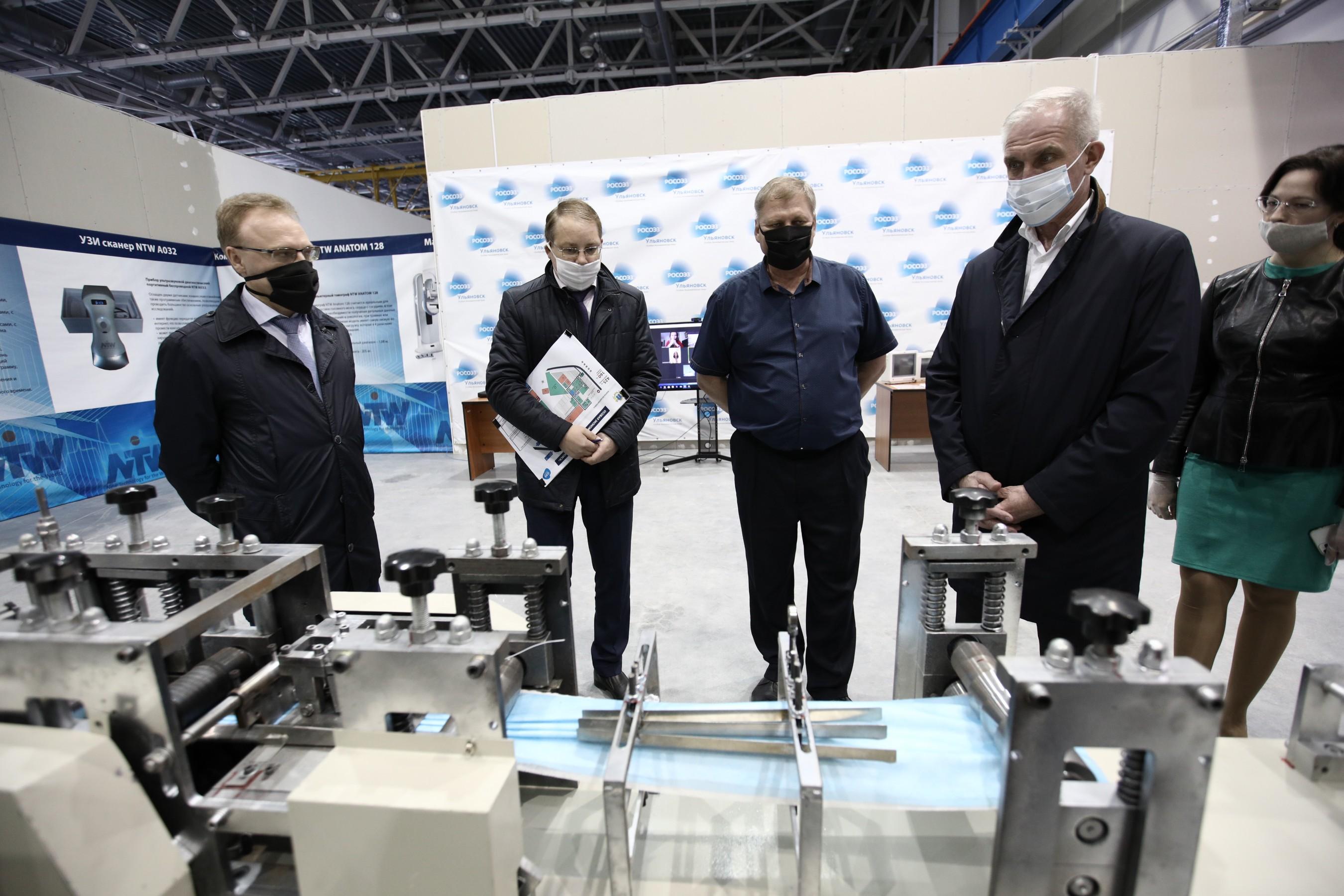 В ПОЭЗ «Ульяновск» из КНР прибыли линии по производству медицинских масок